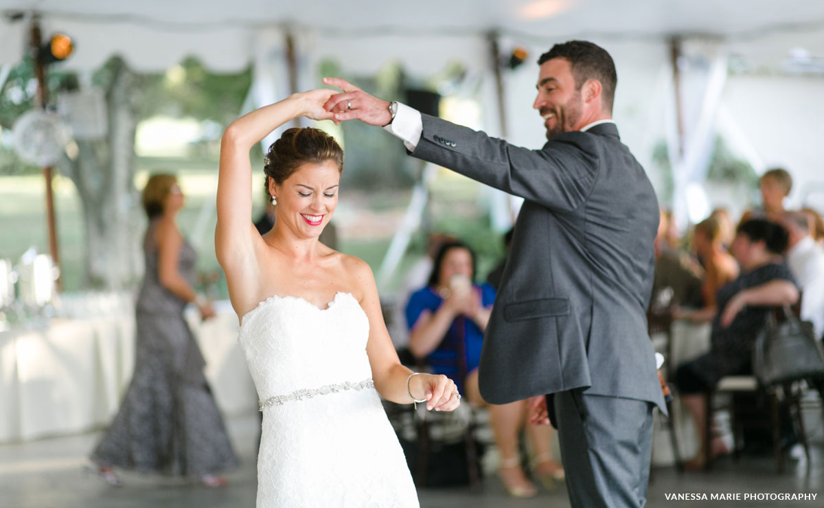 First dance at a wedding reception