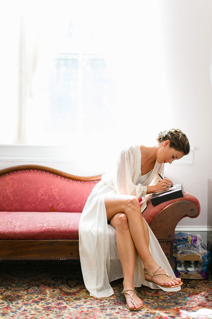 Bride Writing Letter