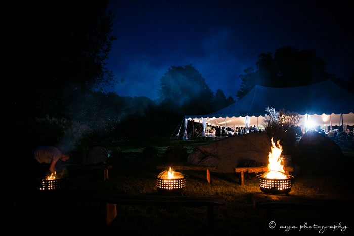 Fire Pits at Philadelphia Wedding