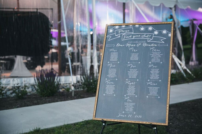 Chalk Board Table Assignments