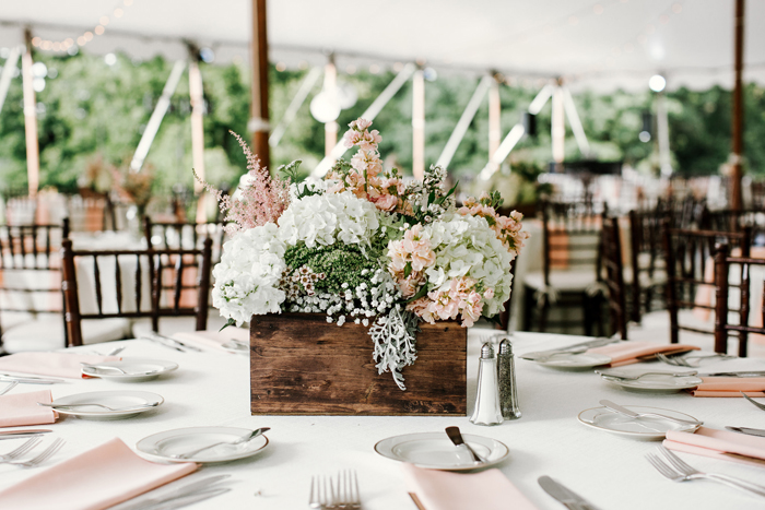 Pastel Color Scheme Table Setting and Flowers