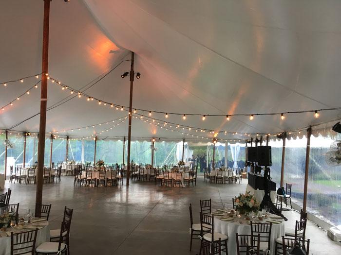 Market Lights at Springton Manor Farm Wedding