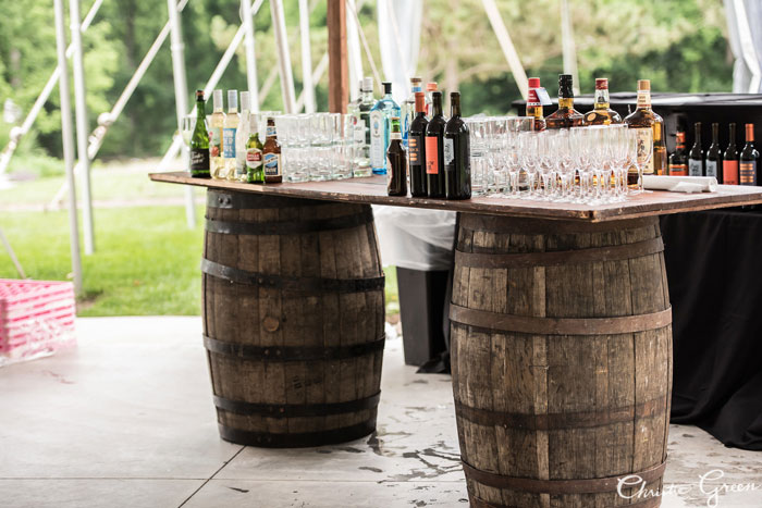 Barrel Bar for Wedding