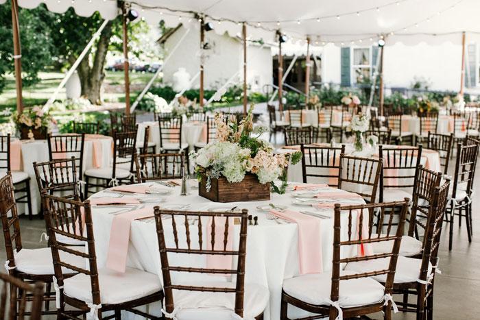 Outdoor Wedding Ceremony in Philadelphia With Free Rain Plan