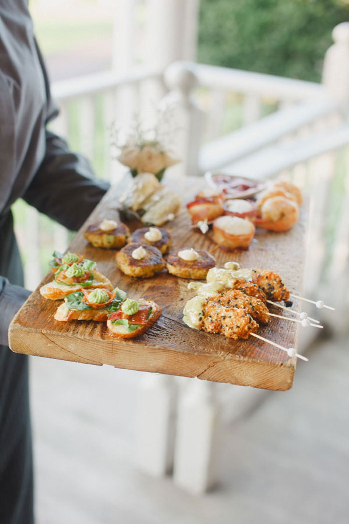 Rustic Wedding Appetizers