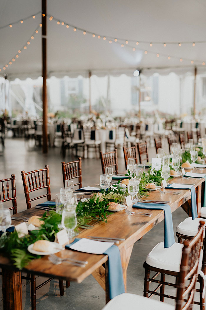 Elegant Tables Decorated for Outdoor Wedding