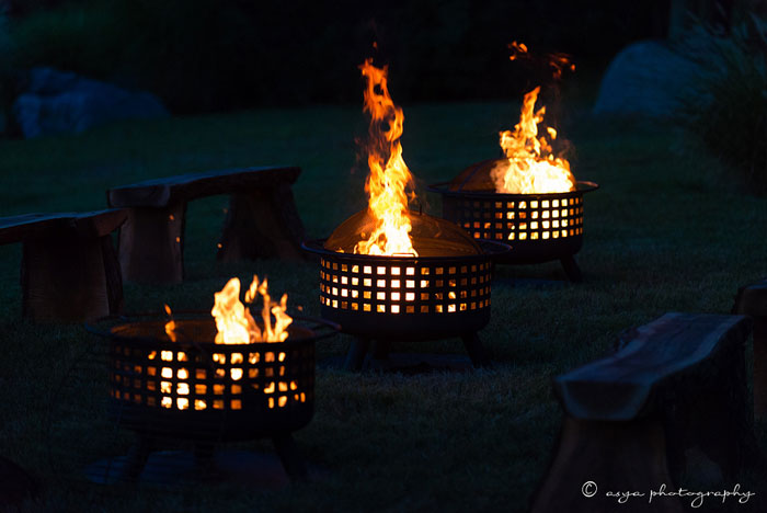 Firepits at Springton Manor Farm