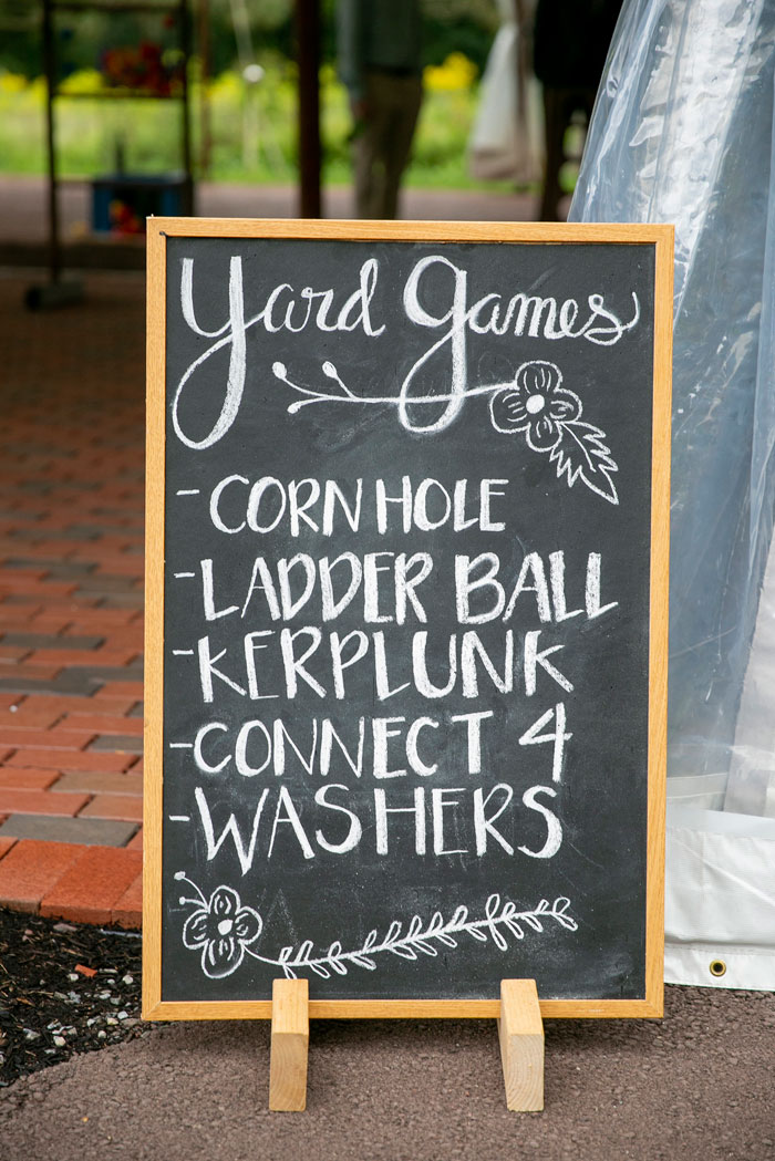 Lawn Game Signage