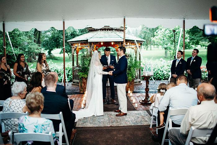 Springton Manor Farm Wedding in the Rain