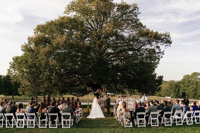 Natural Outdoor Wedding Ceremony at Linden Tree