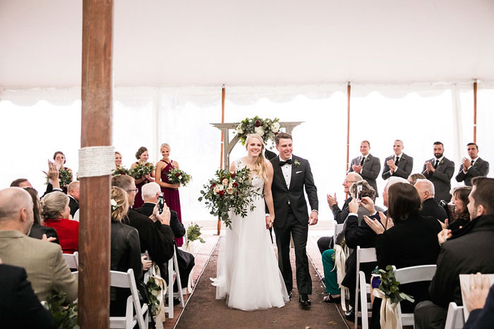 Tented Perennial Gardens Wedding Ceremony