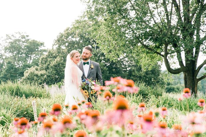 Scenic Photoshoots at Fall Wedding at Springton Manor Farm