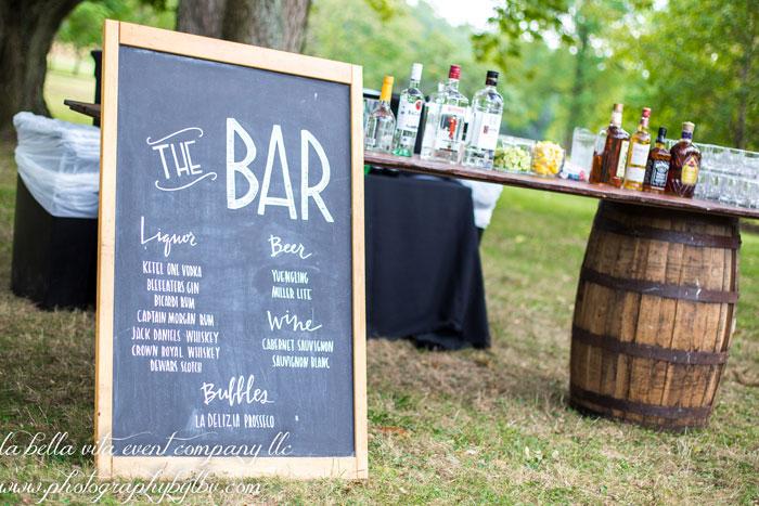Wine Barrel Decor at Springton Manor Rustic Wedding
