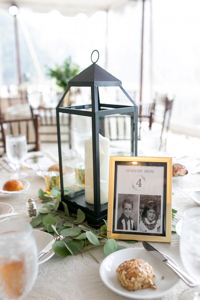 Lantern Centerpiece at Wedding