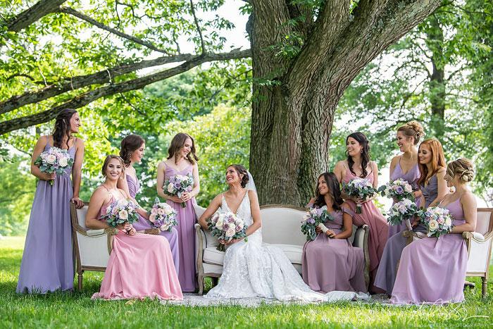 Summer Wedding Bridal Party at Springton Manor Farm