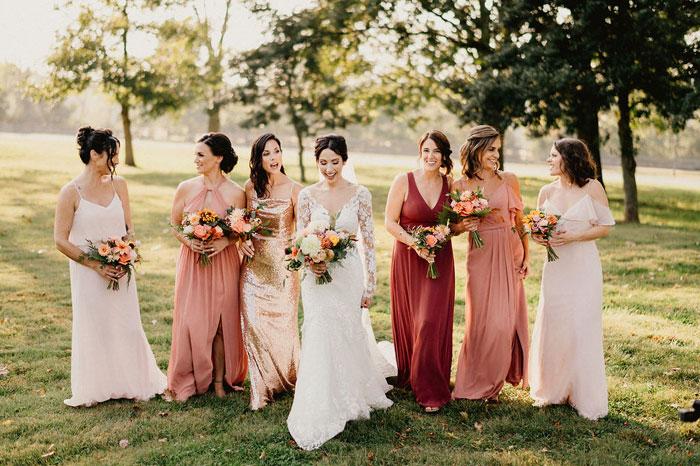 Fall Bridesmaids Rustic Wedding Colors in Philadelphia