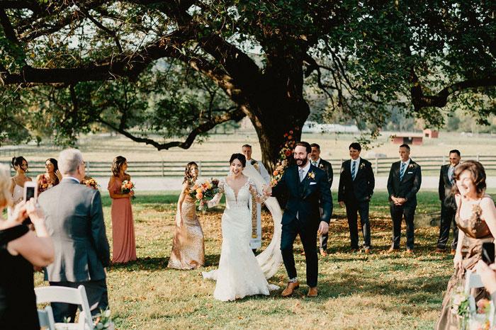 Fall Outdoor Wedding Ceremony at Springton Manor Farm
