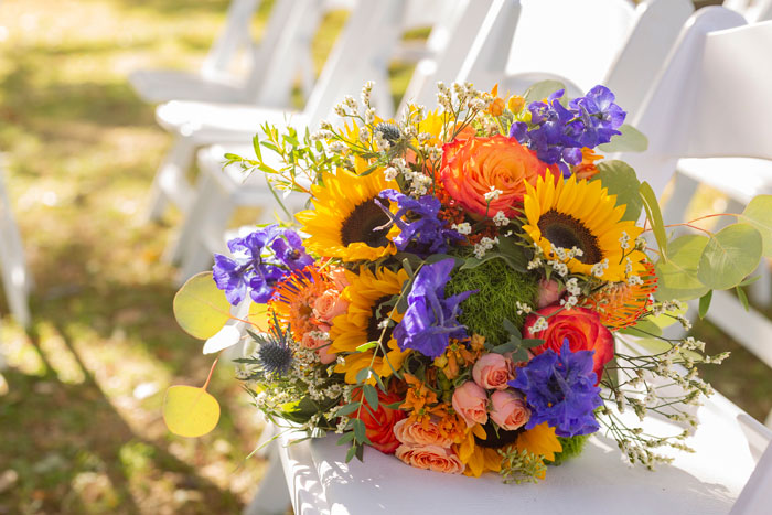 Beautiful Fall Wedding Flower Bouquet
