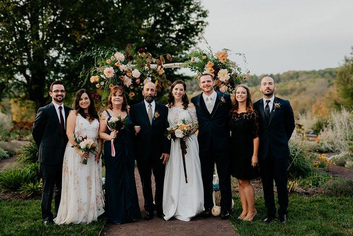 Boho Bride and Groom Wedding Party at Springton Manor Farm